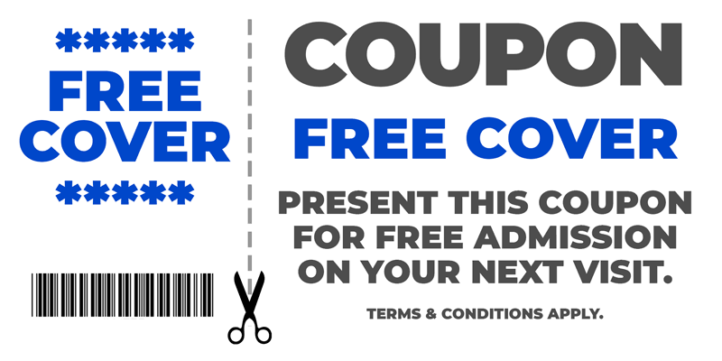 Coupon: free admission to Hi Liter with this coupon.